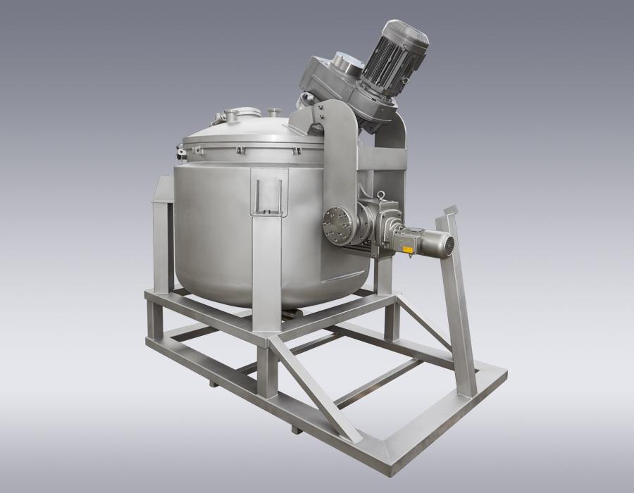Ansatz- und Mischbehälter zur Herstellung von Eispasten