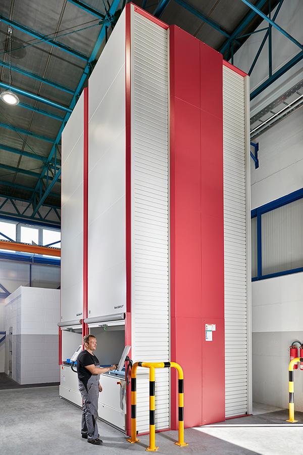 High-Tech-Liftsystem für ein Maximum an Lagerkapazität